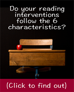 reading intervention characteristics