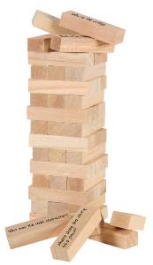 jenga - reading comprehension game