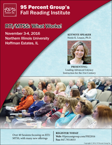 2016 Fall Reading Institute Brochure